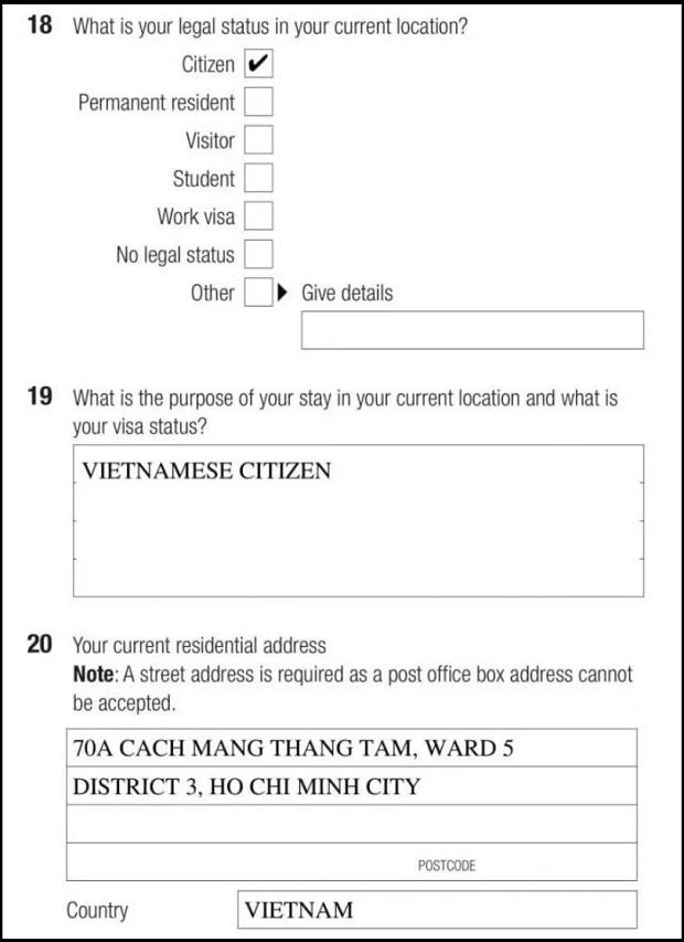 visa 600 Úc