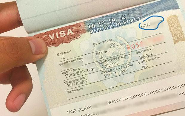 visa đi du lịch Hàn Quốc