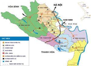 Vi vu cùng bản đồ du lịch Ninh Bình