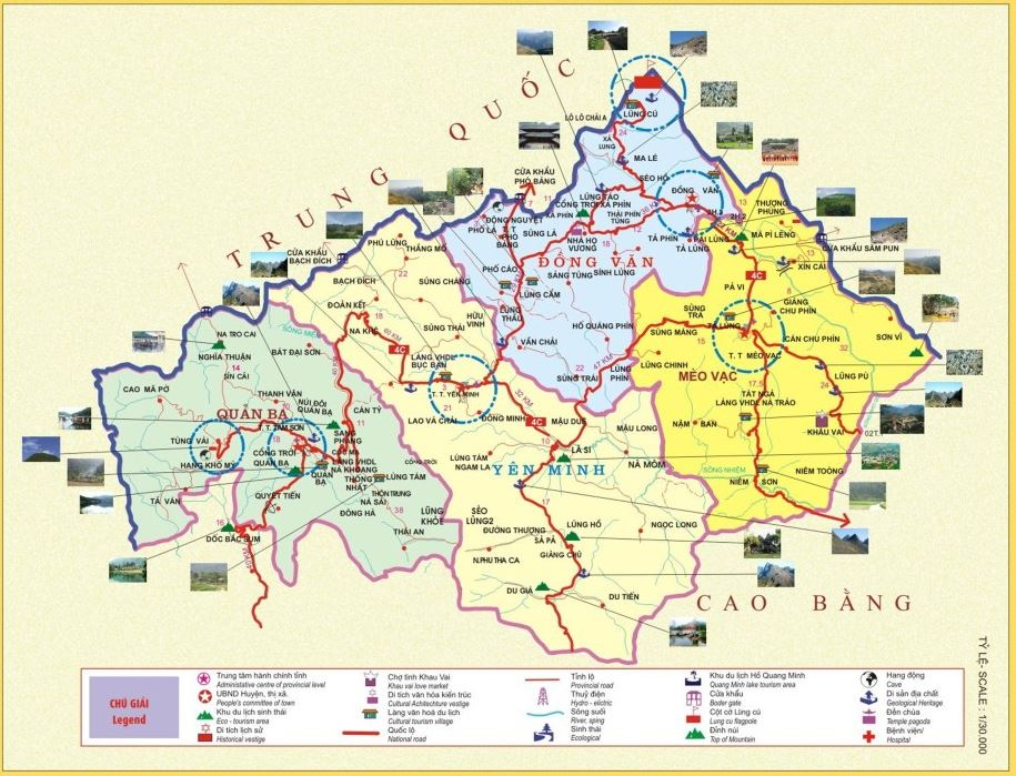 Bản đồ du lịch phượt Hà Giang
