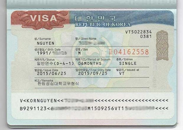 visa hàn quốc d4-1