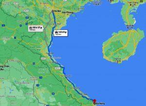 Từ Hà Nội đến Đà Nẵng bao nhiêu km?