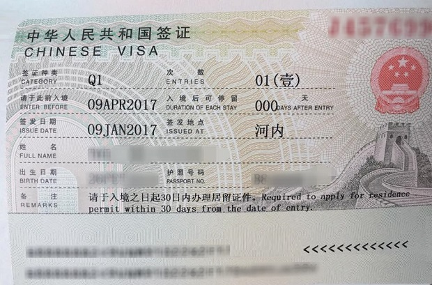 Thủ tục xin visa thăm thân Trung Quốc Q1, Q2 | Thông tin chuẩn Đại sứ quán