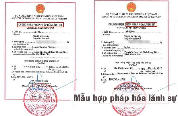 Danh sách các nước được miễn hợp pháp hóa lãnh sự và loại giấy tờ được miễn