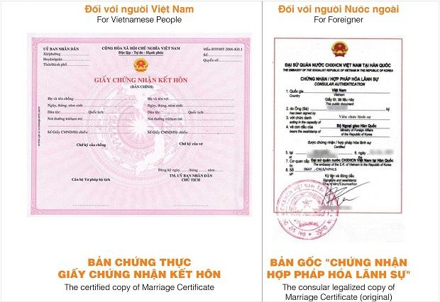 Hợp pháp hóa lãnh sự giấy đăng ký kết hôn dễ dàng, thủ tục đơn giản
