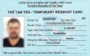 Thẻ tạm trú cho người nước ngoài là gì?