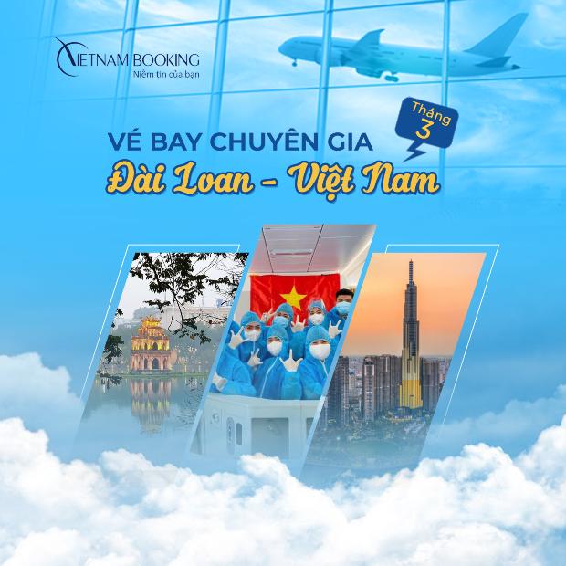 chuyến bay đón chuyên gia từ Đài Loan về Việt Nam