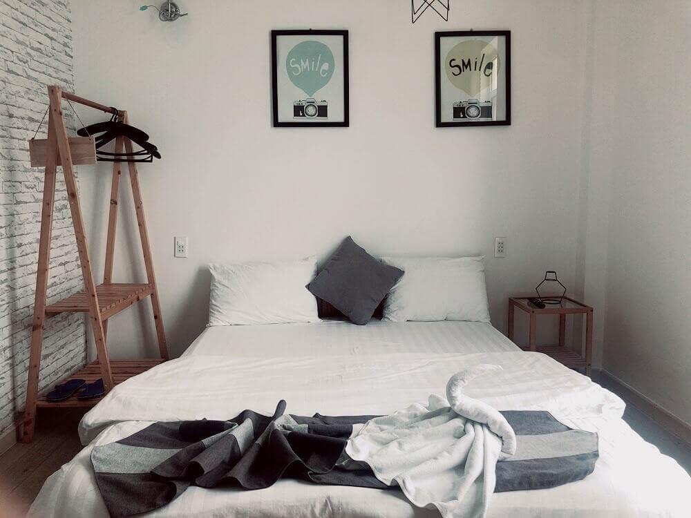 phòng ngủ của Sele House - khách sạn Hà Tiên