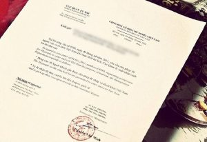 Mẫu thư mời người nước ngoài sang Việt Nam
