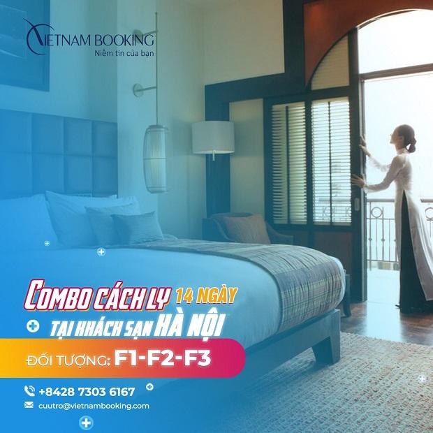 Combo khách sạn cách ly có thu phí dành cho F1, F2, F3 tại Hà Nội
