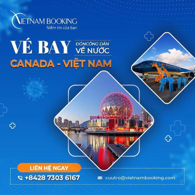 Vé máy bay từ Canada về Việt Nam | Cập nhật lịch bay tháng này