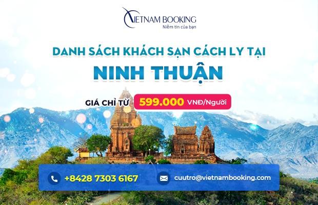 Đặt khách sạn cách ly tại Ninh Thuận