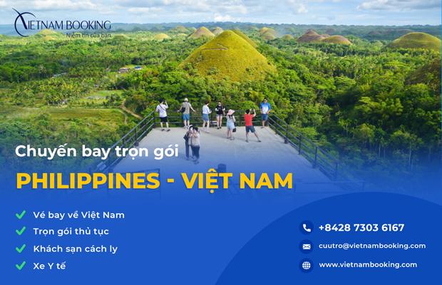 Chuyến bay charter từ Philippines về Việt Nam,Trọn gói dịch vụ cách ly