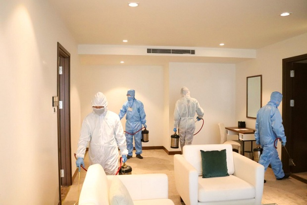 khách sạn cách ly tại Sơn La được phun khử khuẩn an toàn