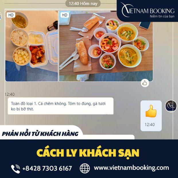 Bữa ăn tại khách sạn cách ly tại Lào Cai