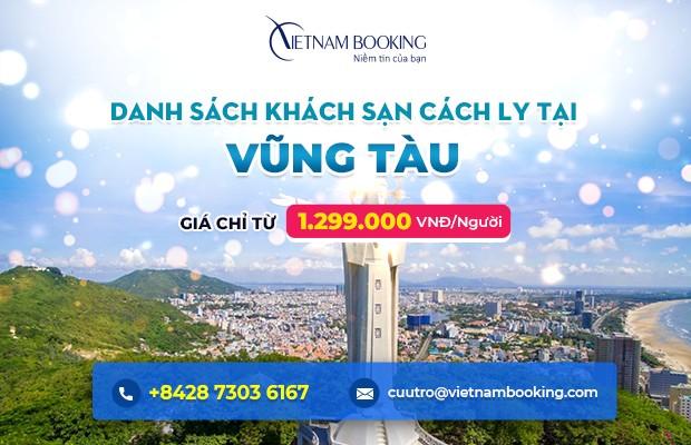 Đặt khách sạn cách ly tại Vũng Tàu